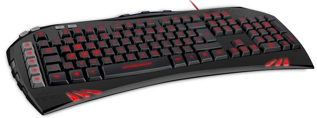Speedlink SL-6481-BK Virtuis Advanced Gaming Tastatur schwarz