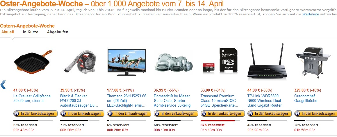 osterangebote amazon