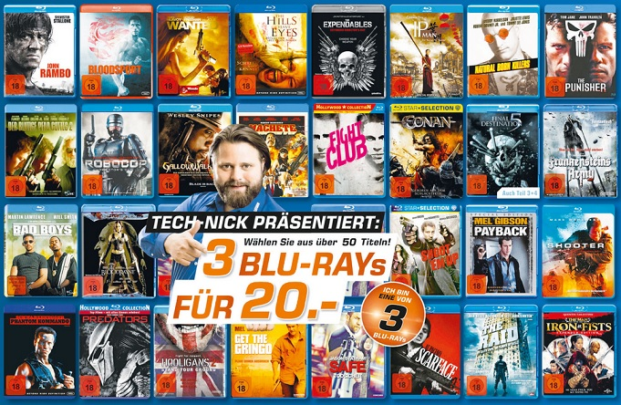 3 Blurays ab 18 Saturn