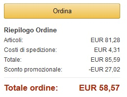 Amazon Italien Warenkorb