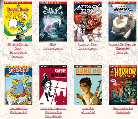 Gratis Comic Tag 2014