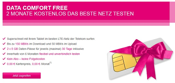 T Mobile Data Comfort Free