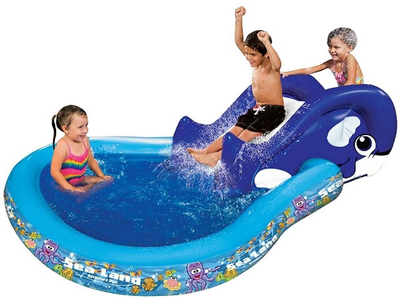 Banzai Slide N Splash Whale Pool