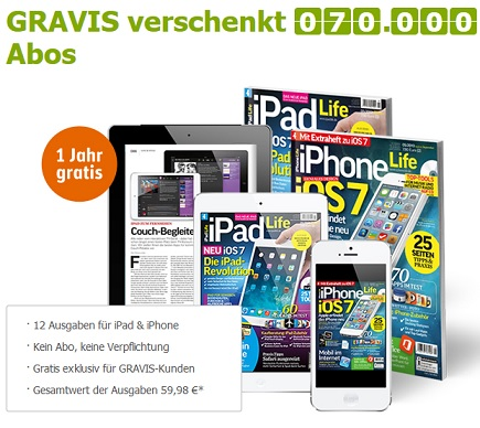 iPad iPhone Life Abo gratis