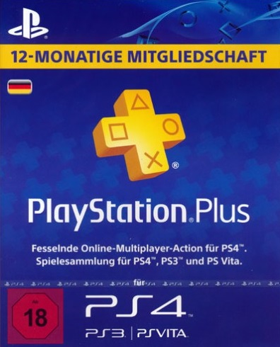 12 Monate Playstation Plus