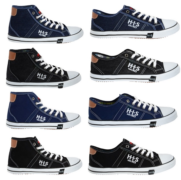 H.I.S Herren Sneaker Low oder High Cut Canvas oder Denim