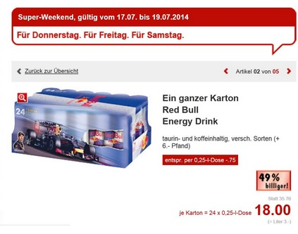 Red Bull bundesweite Aktion