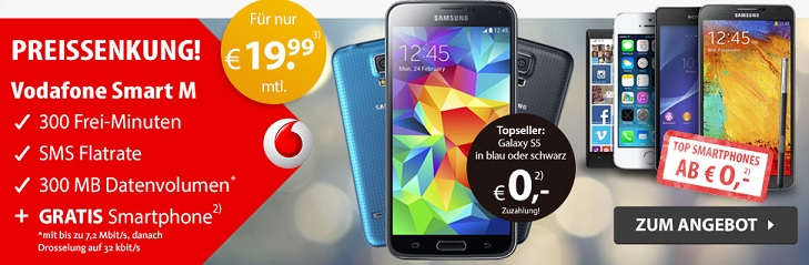 Vodafone Smart M mit TOP Smartphones