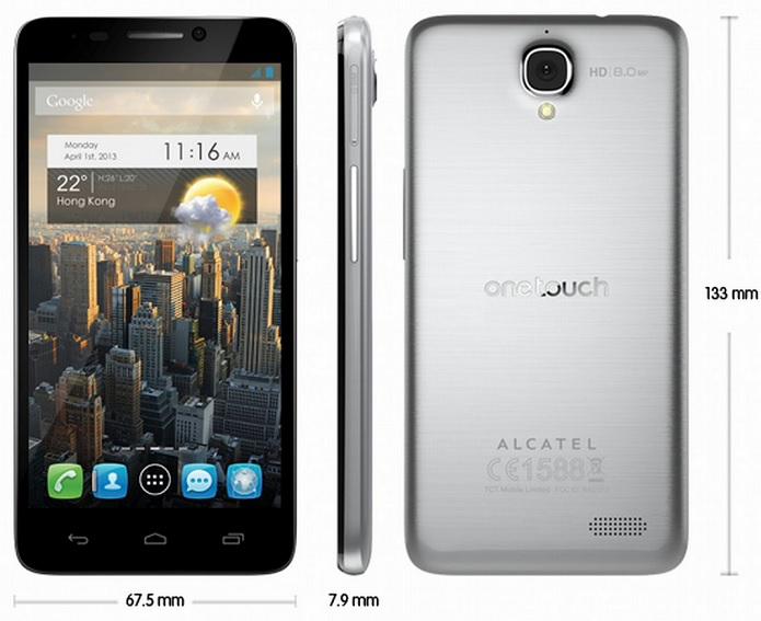 Alcatel One Touch Idol Silver