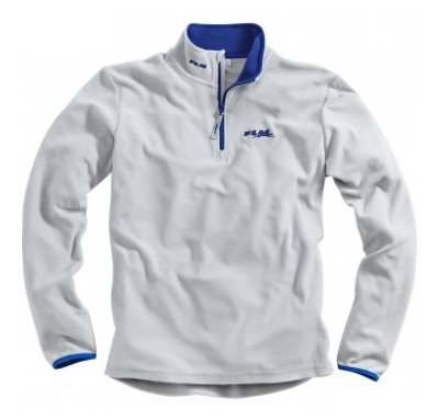 Fleece Team-Shirt blau