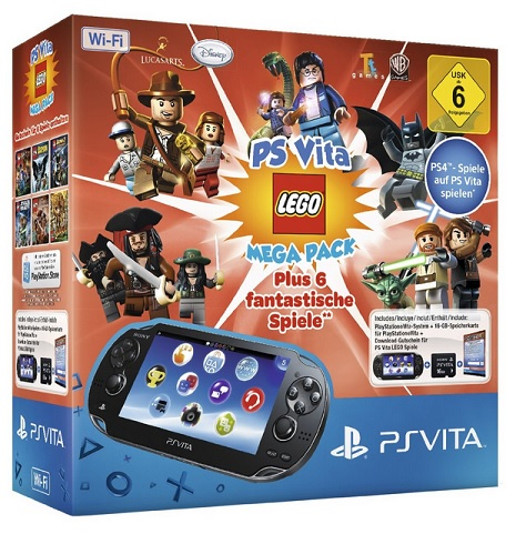 Sony PlayStation Vita Wi-Fi + PS Vita Lego Mega Pack + Speicherkarte 16GB