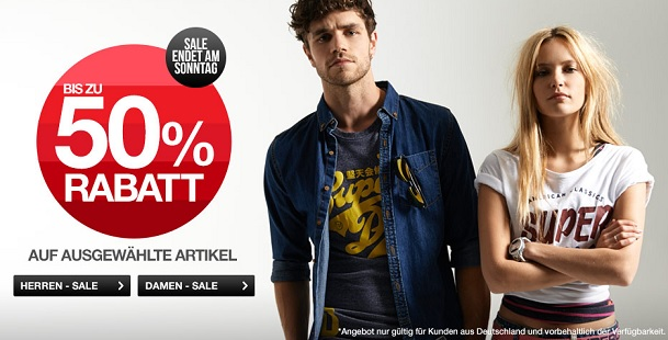 Superdry Rabattaktion