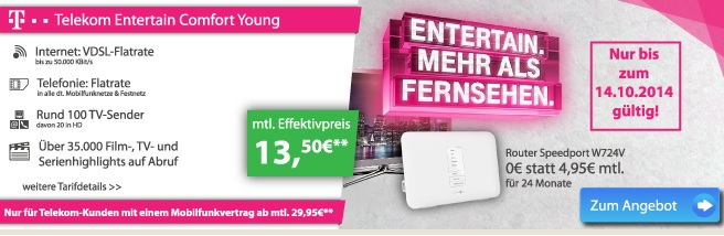 Telekom Entertain Comfort Young
