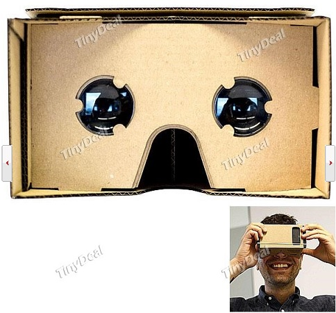 Unassembled DIY Google Cardboard Cellphone Virtual Reality 3D