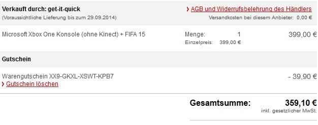 xbox one fifa warenkorb