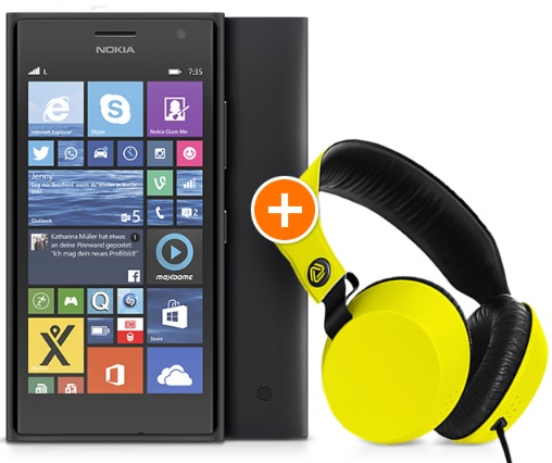 Nokia Lumia 735 cloud headset