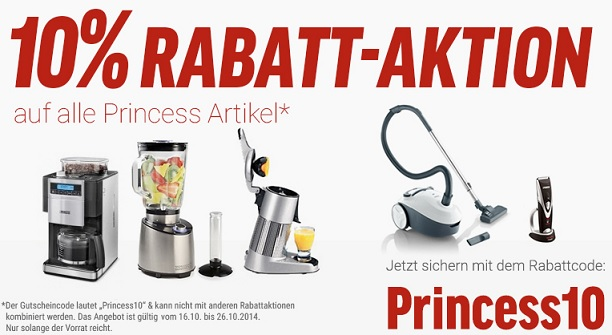 Princess Artikel Rabattaktion