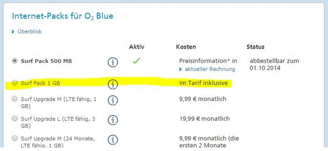 o2 Blue Select Handyvertrag