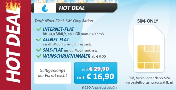 Allnet Flat L Sim Only Aktion