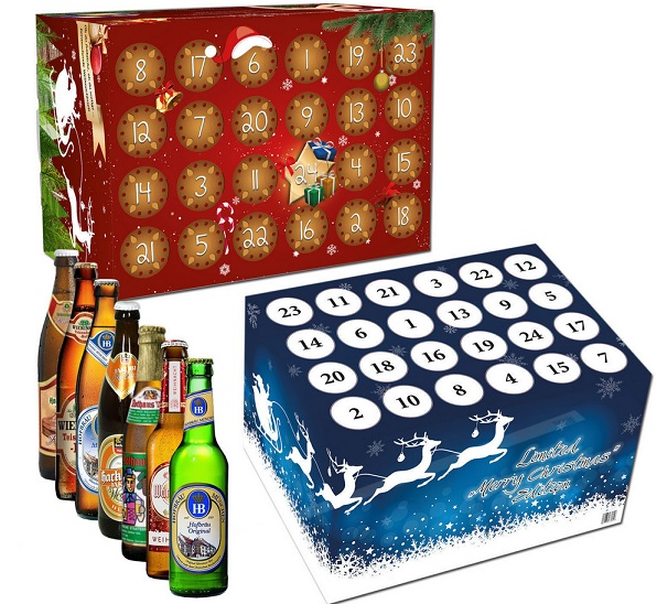 verschiedene bier adventskalender 2014 f r 29 90 f r frauen m nner classic oder weissbier. Black Bedroom Furniture Sets. Home Design Ideas