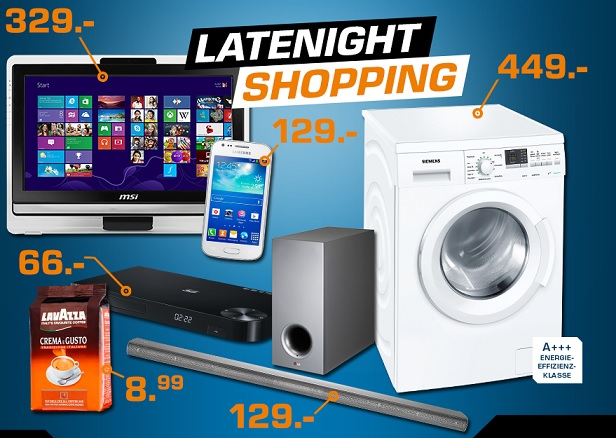 Late Night Shopping bei Saturn