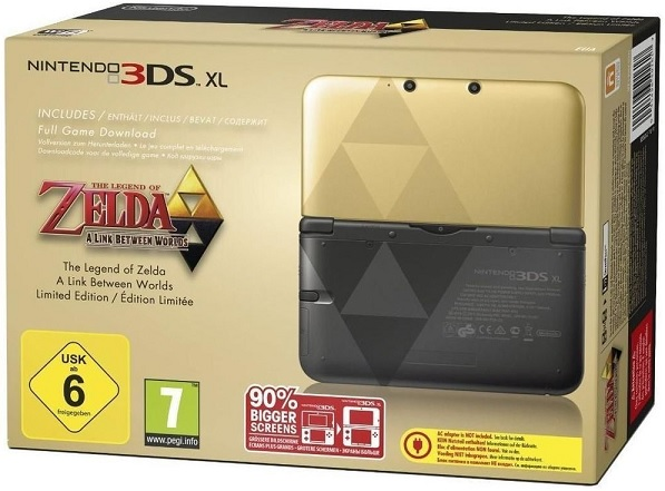 Nintendo 3DS XL in gold Zelda Bundle