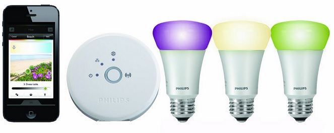 philips hue kit f r 159 wlan led lampen steuer und programmierbar per smartphone f r gu10. Black Bedroom Furniture Sets. Home Design Ideas