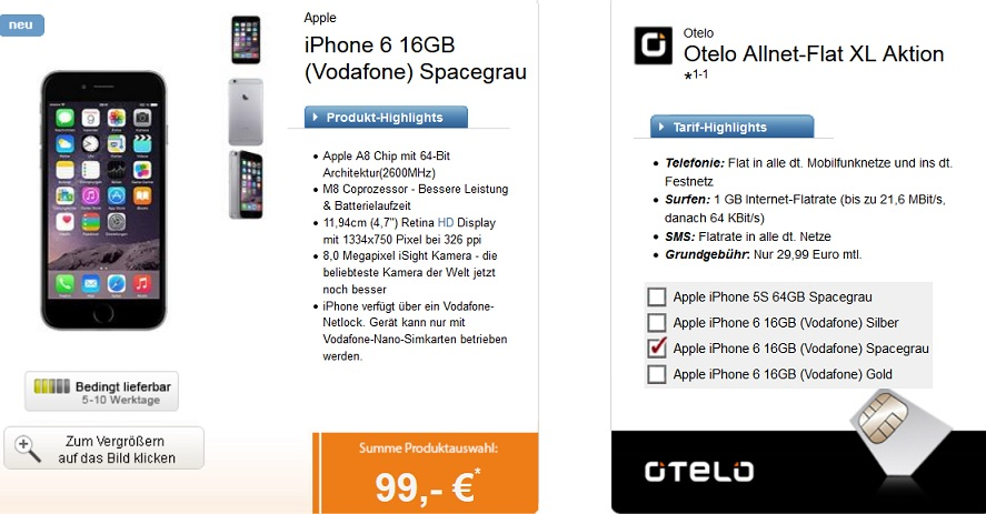 iphone deal otelo