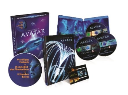 Avatar – Extended Collector´s Edition 3 Blu-rays mit Fanbuch Action Blu-ray
