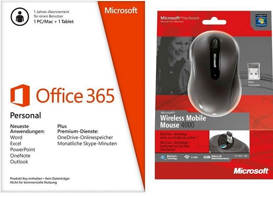 MS Office mit MS Mouse 4000
