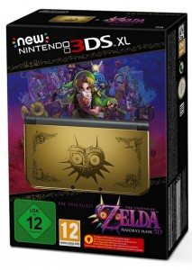 New Nintendo 3DS XL gold inkl. Legend of Zelda Majora's Mask 3D