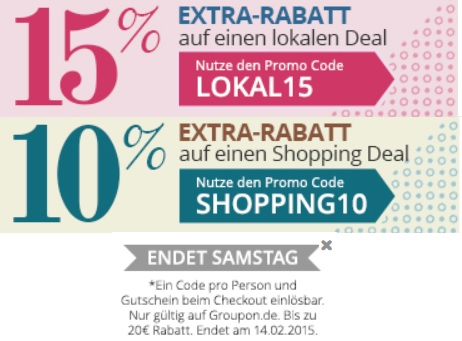 GROUPON GUTSCHEINCODE SHOPPING