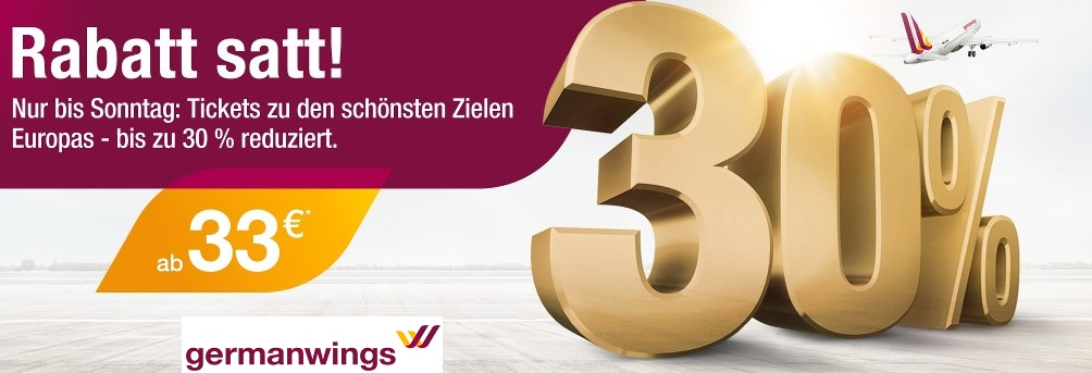 germanwings angebote