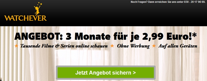 watchever Angebot