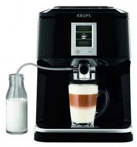 Krups EA850B One Touch Cappuccino Vollautomat mit Touchscreen Farbdisplay
