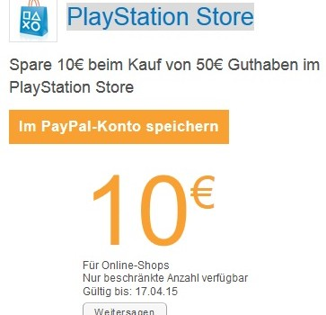Playstation Store Guthabne