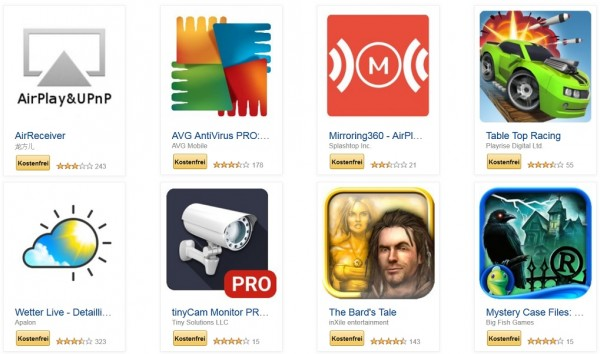 Android Apps bei Amazon