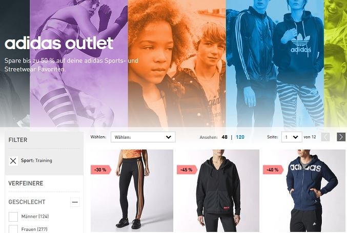 adidas outlet angebote