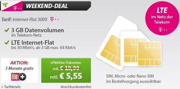 mobilcom debitel Weekend Deal
