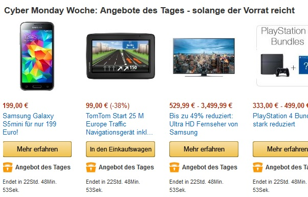 tageangebote amazon