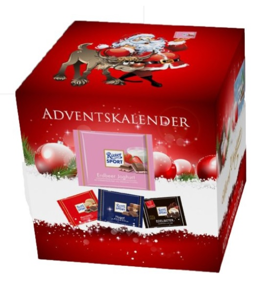 ritter sport adventskalender xl f r schokoladen liebhaber ab 14 99 update. Black Bedroom Furniture Sets. Home Design Ideas