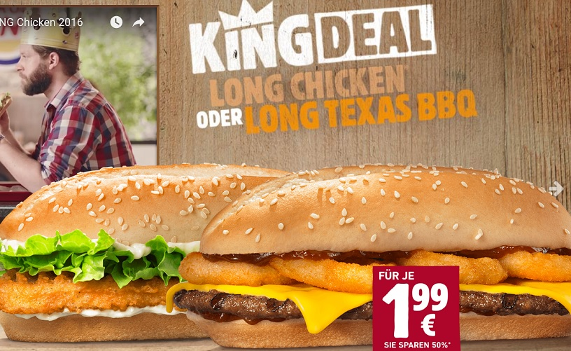 burger king 20 rabatt