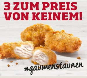 chicken gratis