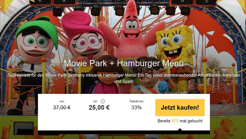 travelbird angebot movie park