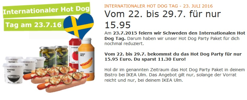 Hot Dog Angebot IKEA