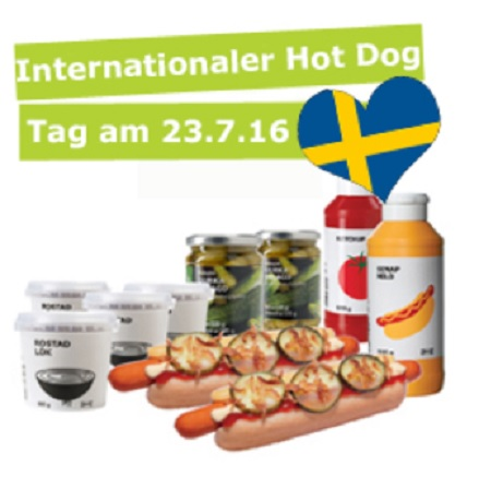 ikea hot dog party paket f r 32 hot dogs um 15 95. Black Bedroom Furniture Sets. Home Design Ideas