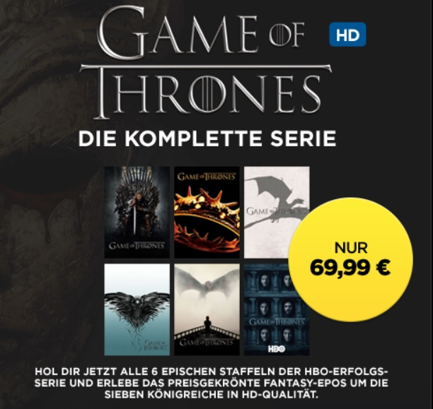 games of thrones komplett