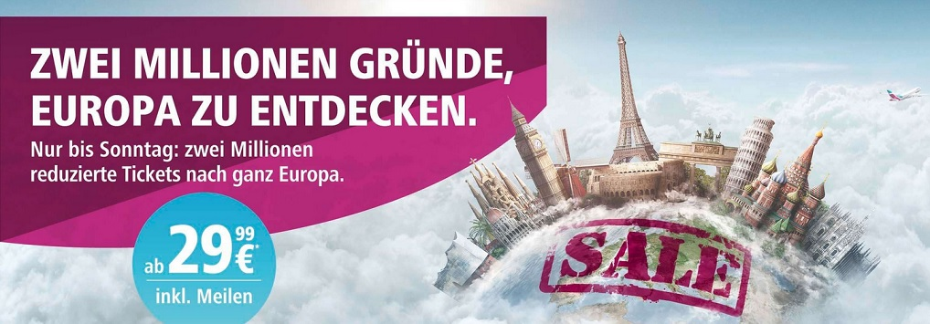 Eurowings Rabattaktion