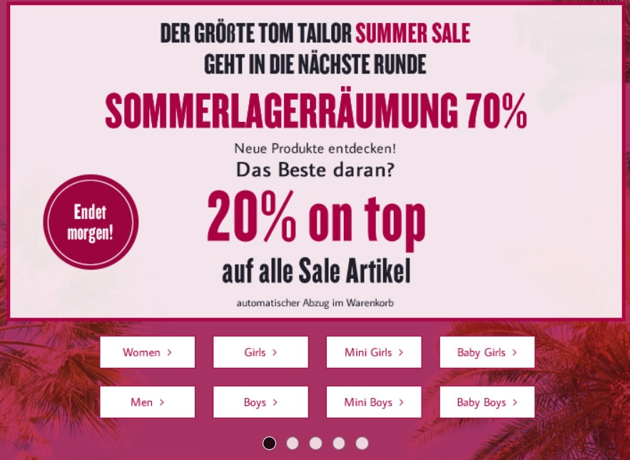 tom tailor sale
