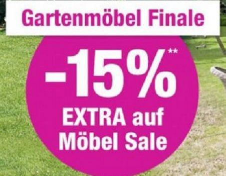 15 extra rabatt auf den gartenm bel sale bei gartenxxl. Black Bedroom Furniture Sets. Home Design Ideas